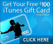 Get your $100 iTunes gift card.