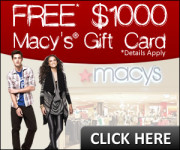 Free Macy's Gift Card, Limited Offer