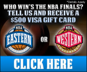 Who will win the NBA Finals? Answer and Get 500 Gift Card
