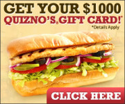 Like Sandwiches? Get Free Quiznos Gift Card