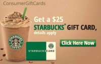 Free $25 Starbucks Gift Card