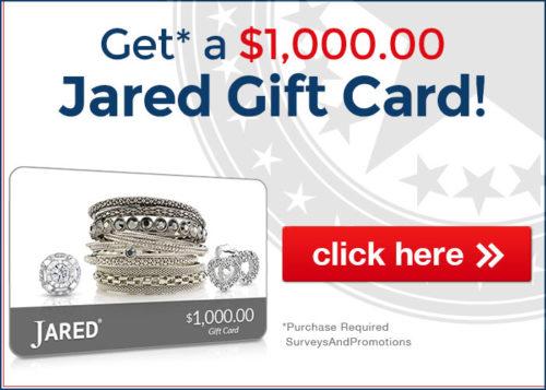 Get Jared Jewelers Gift Card